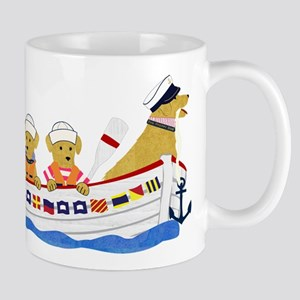 Nautical Preppy Retriever Dogs Mug
